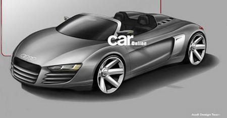 Официальный эскиз R8 Spider от Audi попал в Интернет