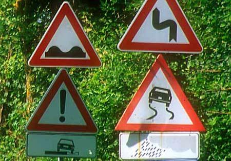 Cекс с дорожными знаками