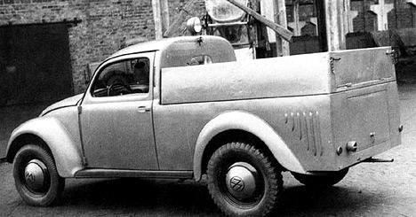 Volkswagen Beetle делался во множестве различных модификаций — среди них был даже пикап.