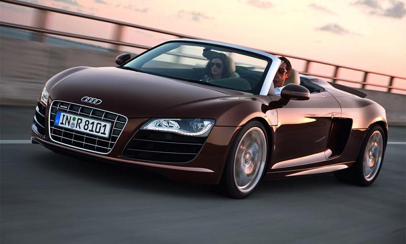 Audi выпустит R8 Spyder