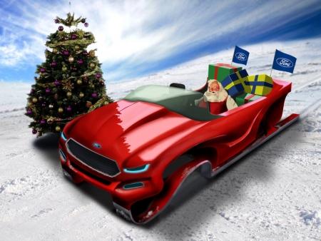 Эко-сани для Санта Клауса от компании Ford